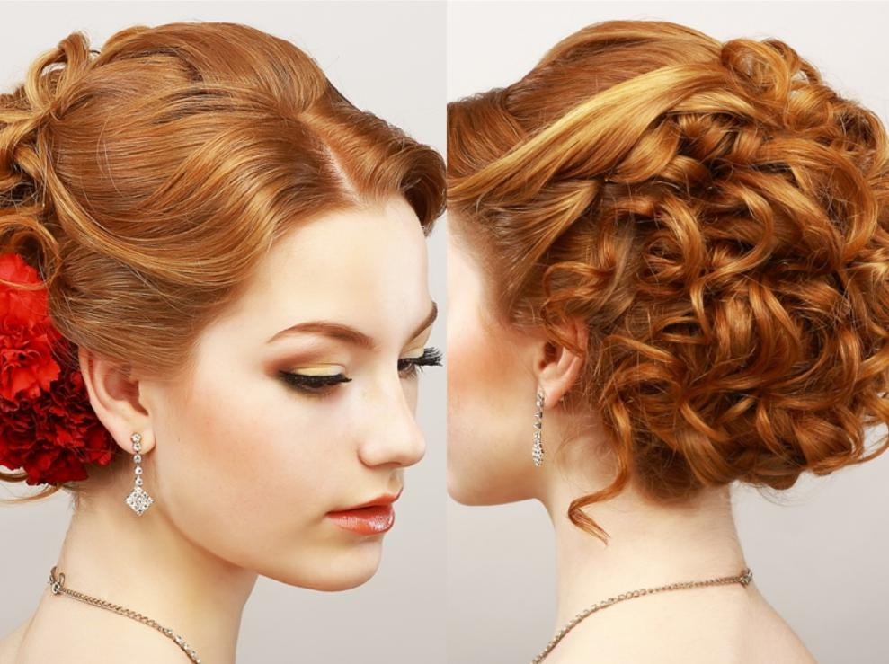 Spiral Curled Brief Updo