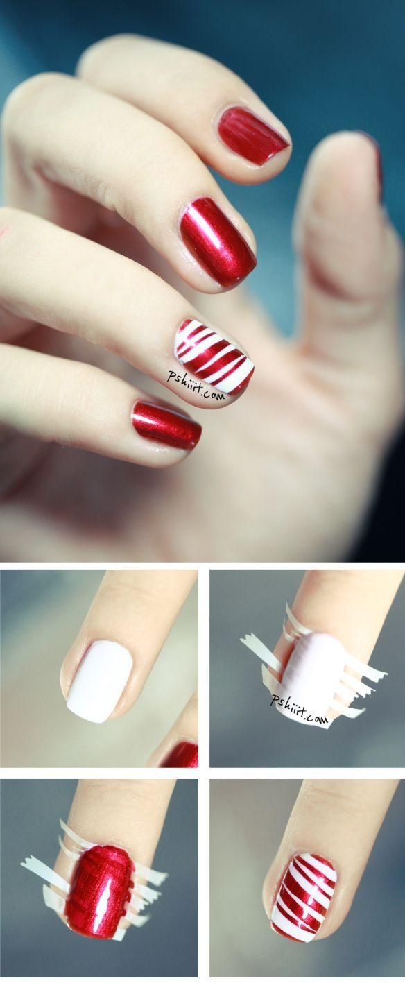 Sweet candy canes nails
