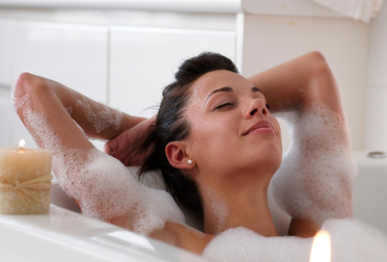 Take a warm bathroom or a shower+ massage therapy