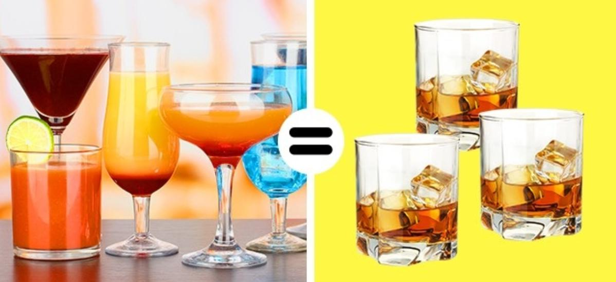 You can not mix various drinks