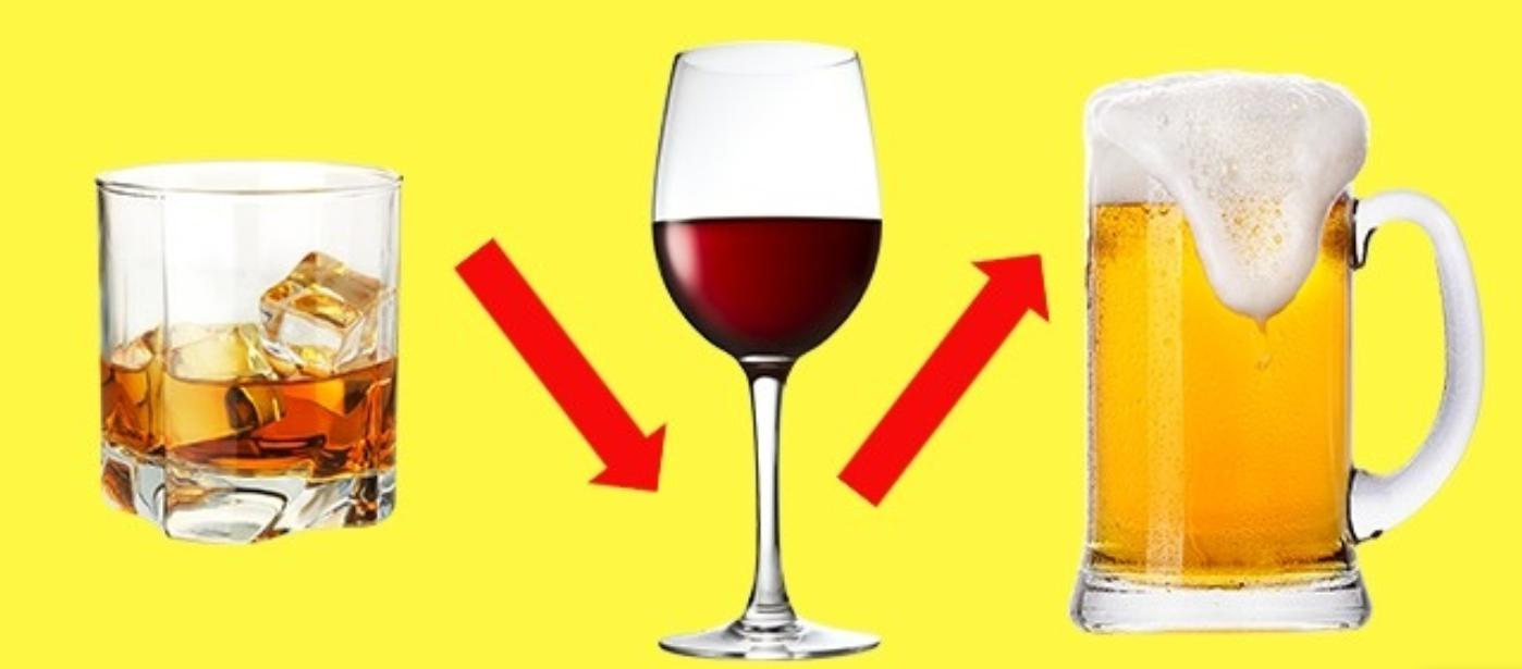 You shouldn't decrease the strength of the alcohol you drink