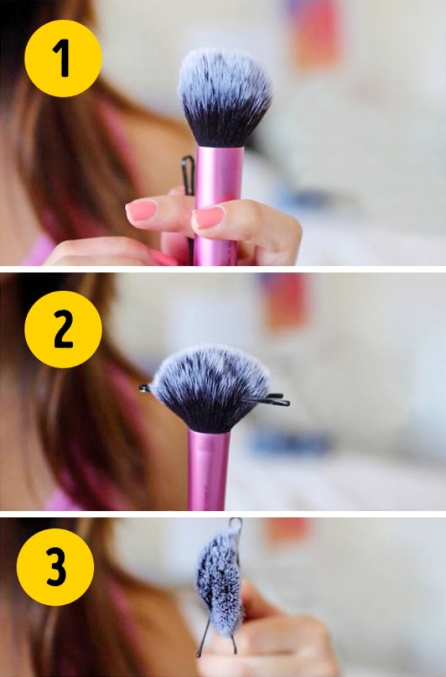 Your make-up brush can transform its shape
