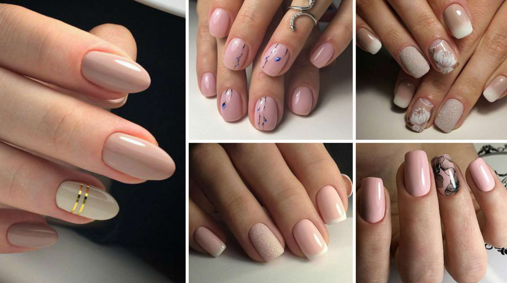 acrylic nails nude