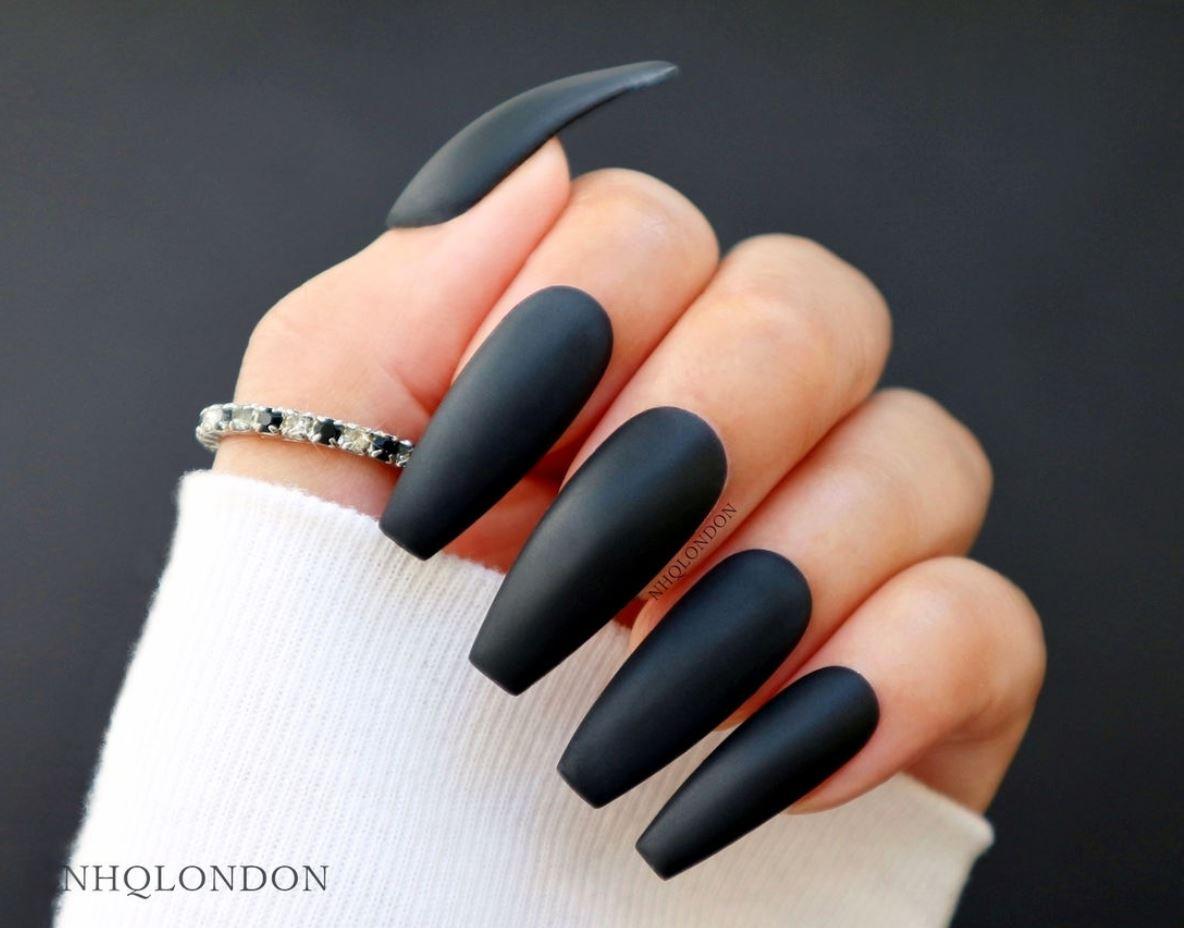 ballerina matte nails