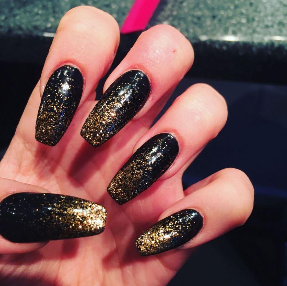 ballerina nails gliter