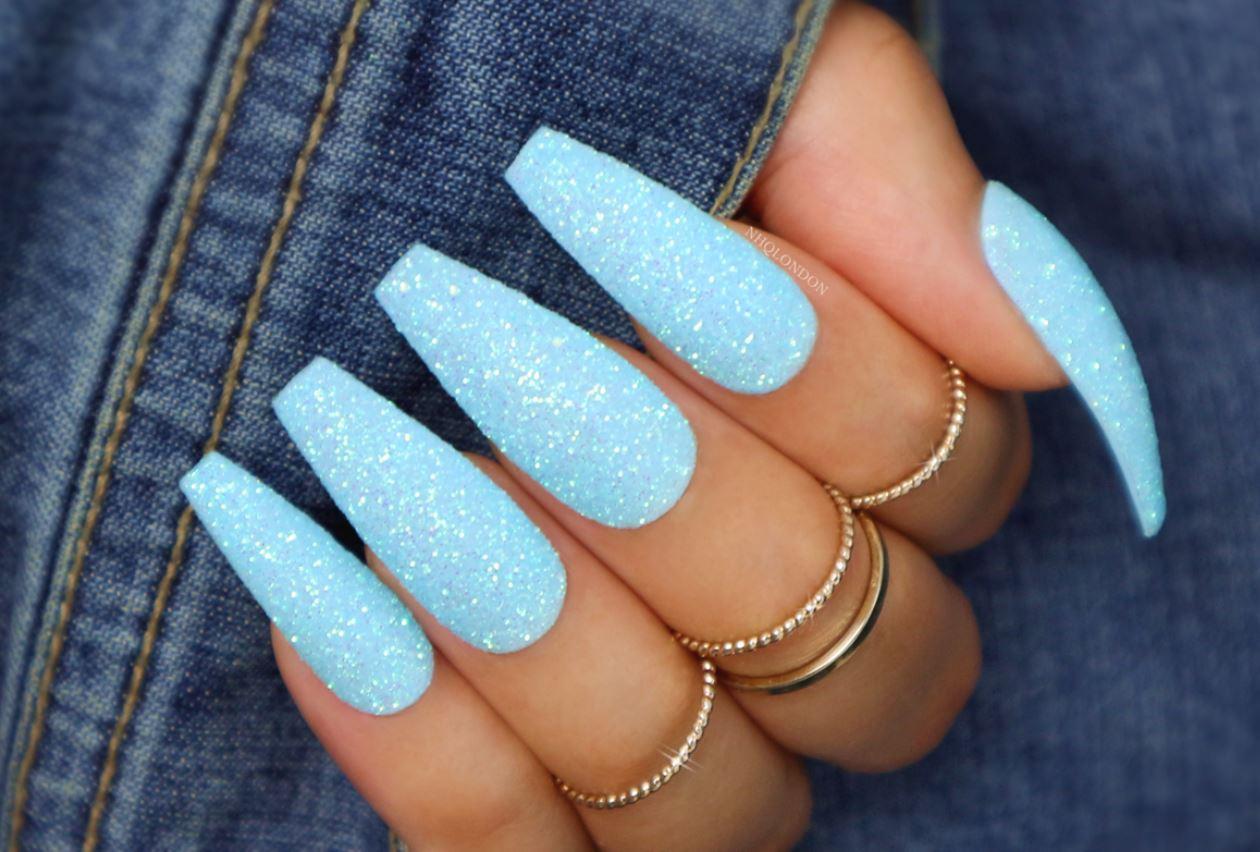 ballerina nails glitter