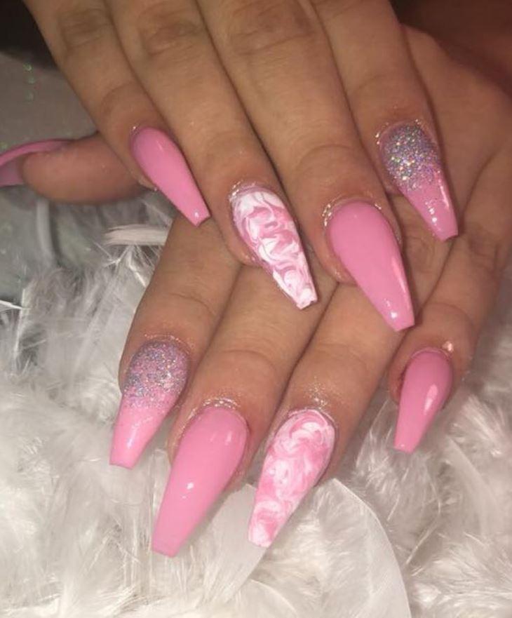 ballerina nails pink