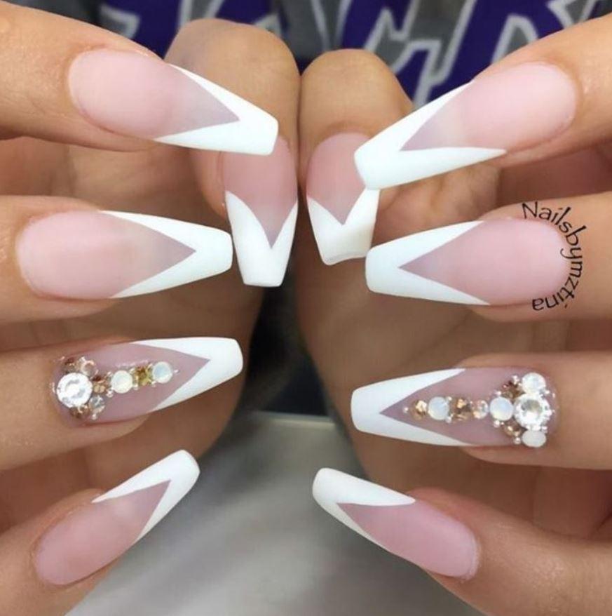 ballerina tip nails