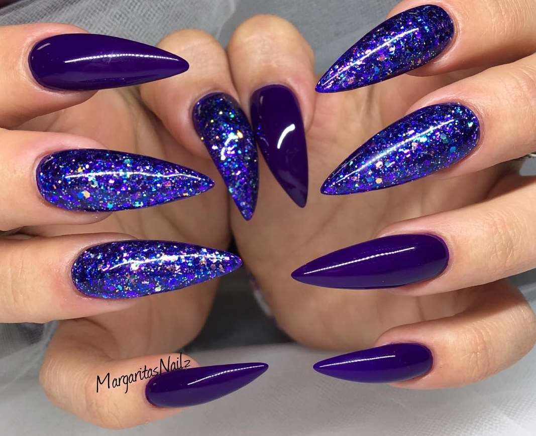 beautiful glitter nails
