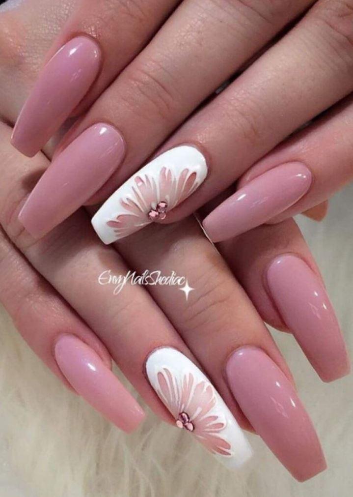 beige ballerina nails