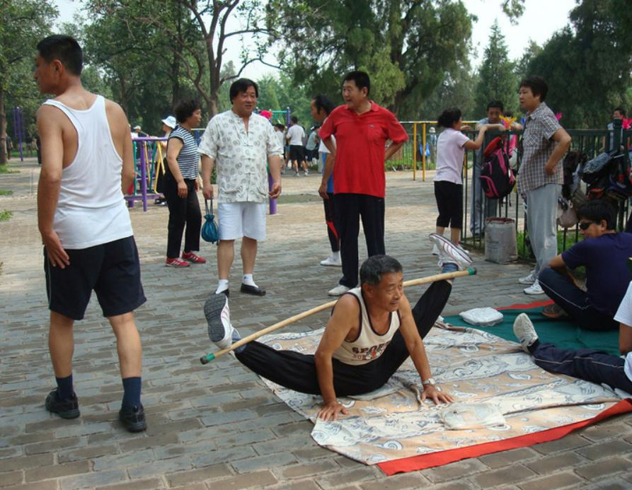 chinese Group workouts