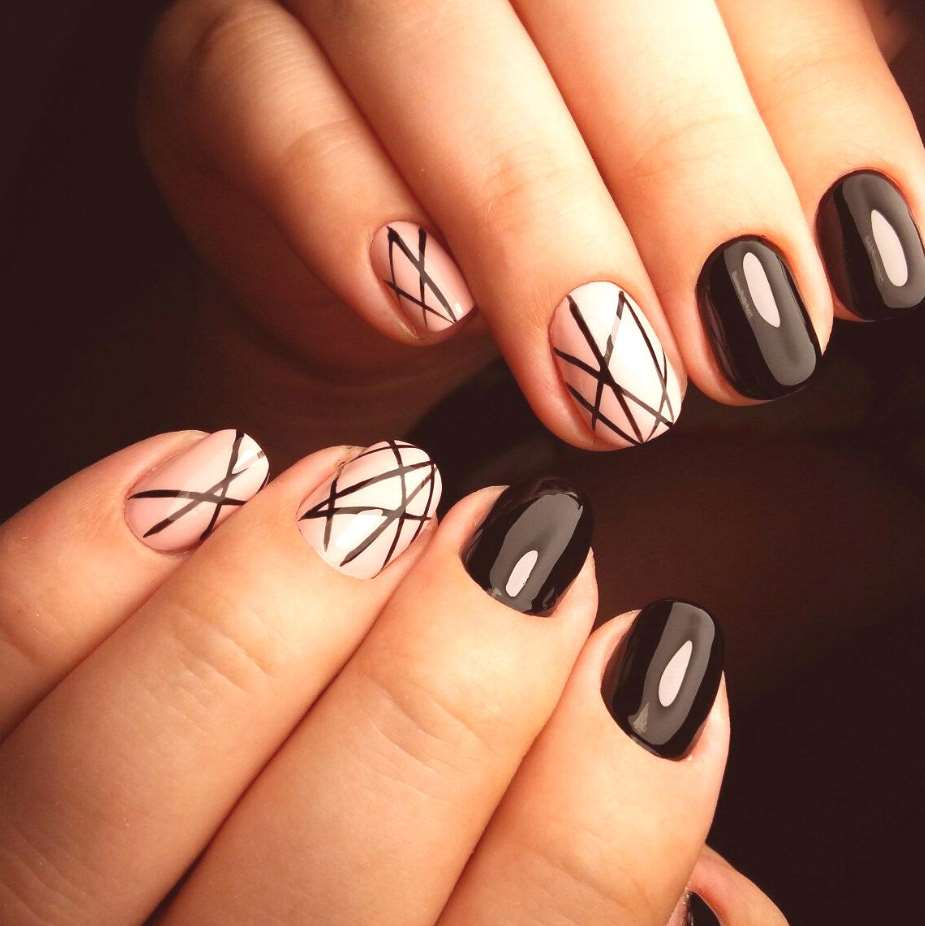classy nail designs for short nails