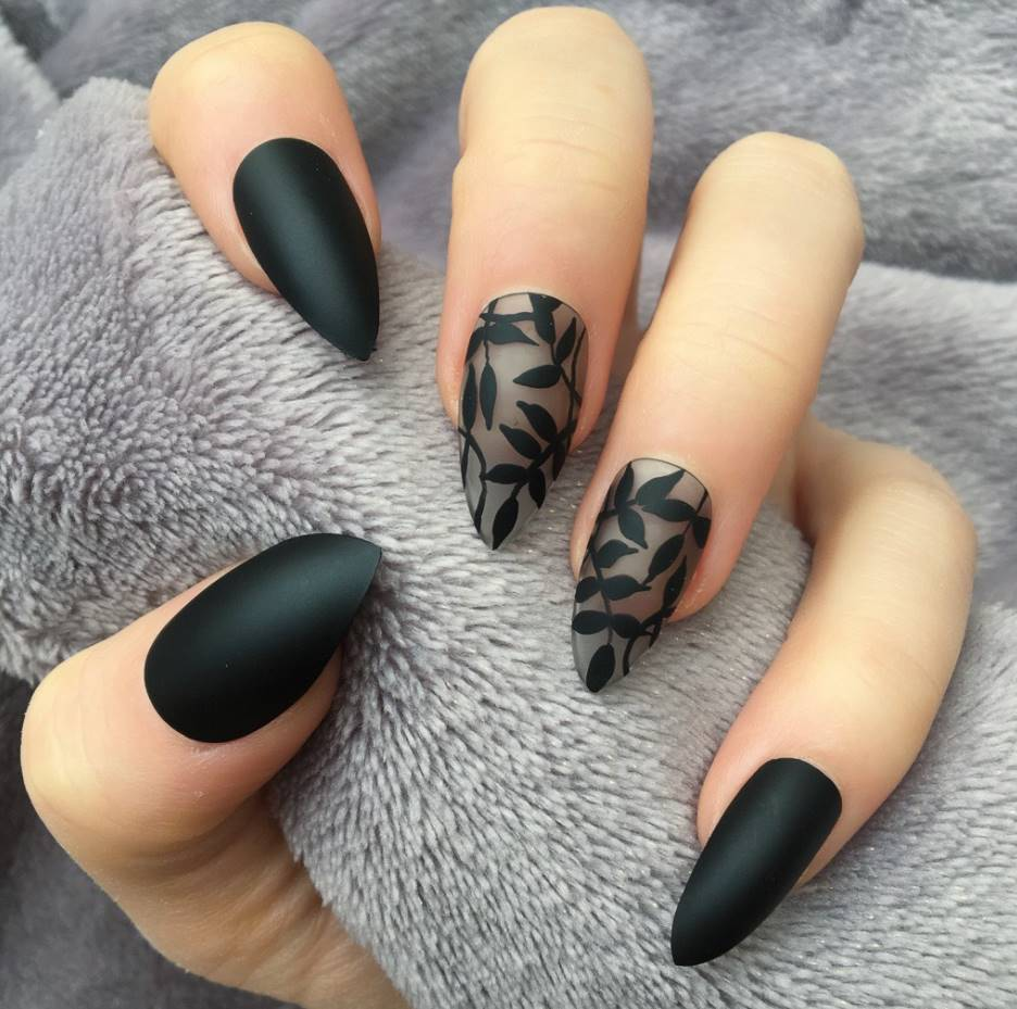 curved acrylic nails