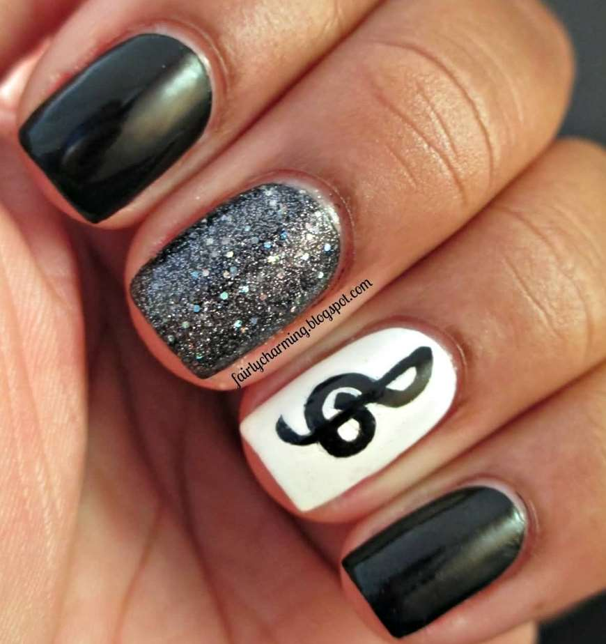 cute nail designs for really short nails