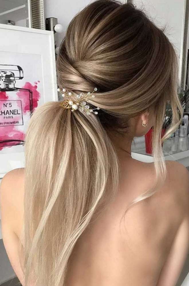 easy wedding hairstyles long hair