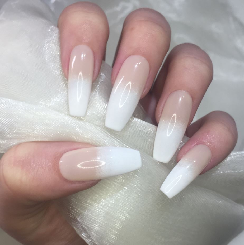 french tip ballerina nails