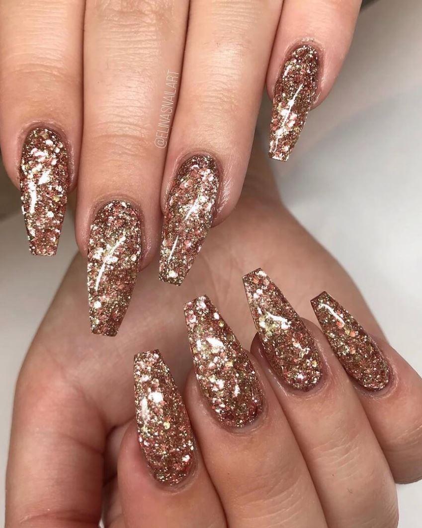 glitter ballerina nails