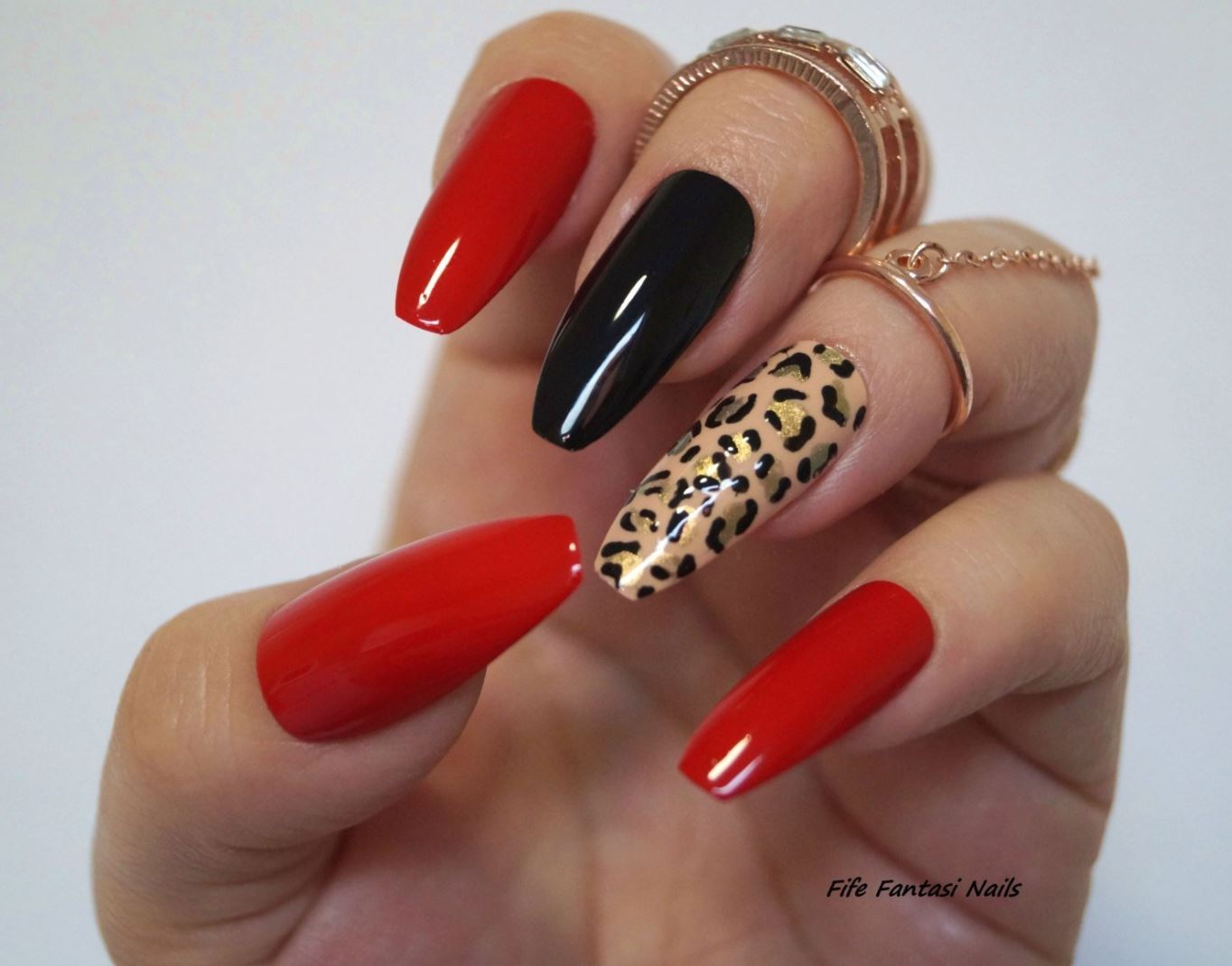 long ballerina shaped nails