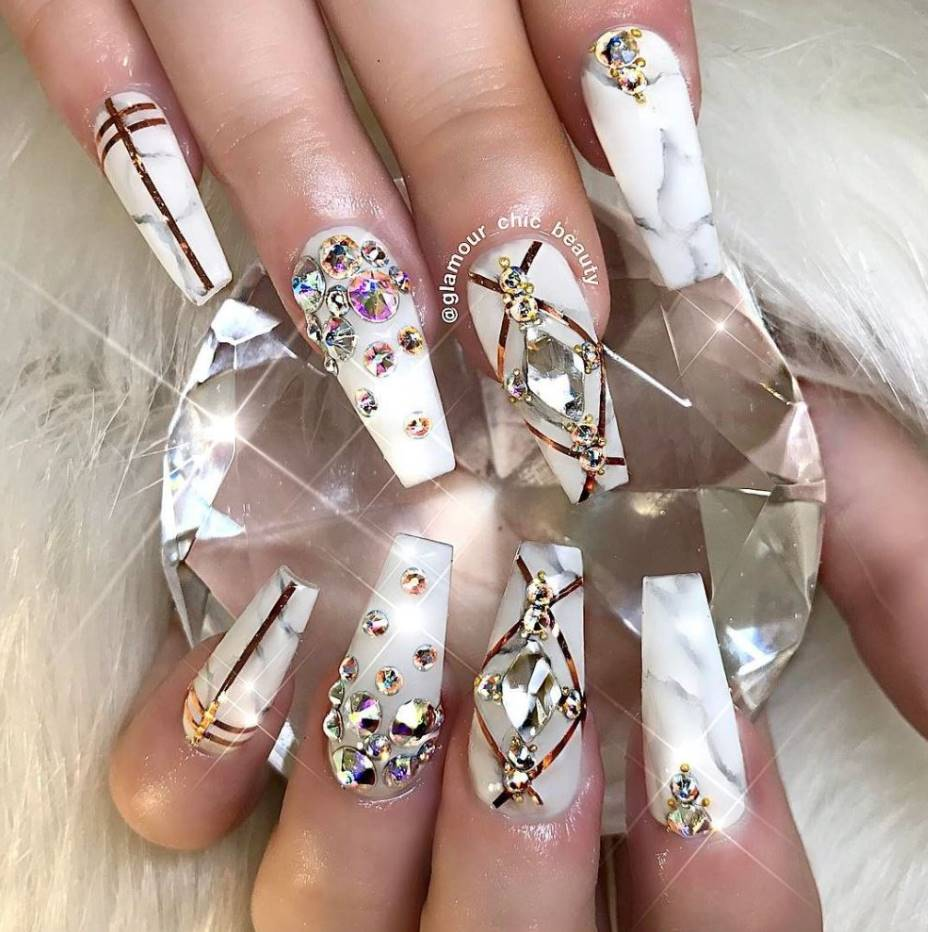 long square acrylic nails