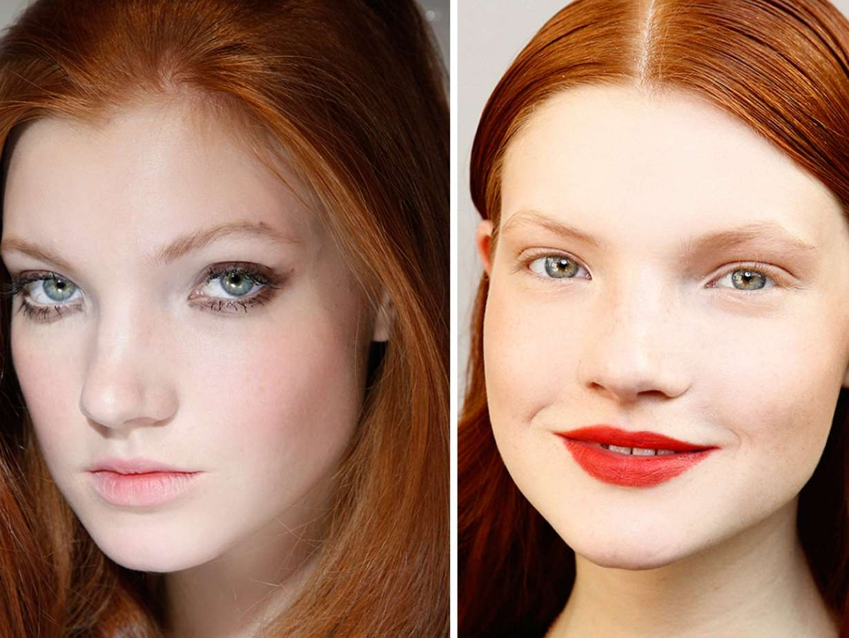 makeup for red hair and green eyes