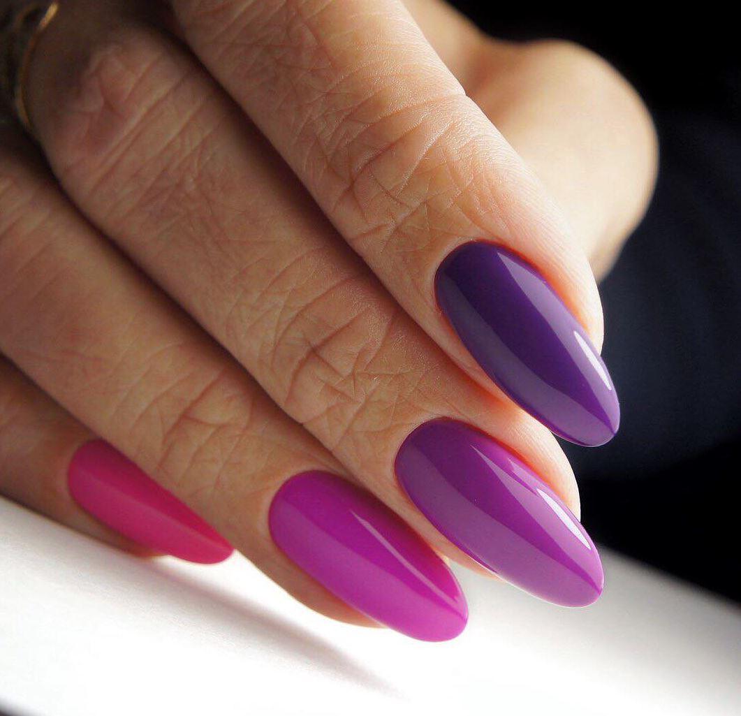 ombre color nails