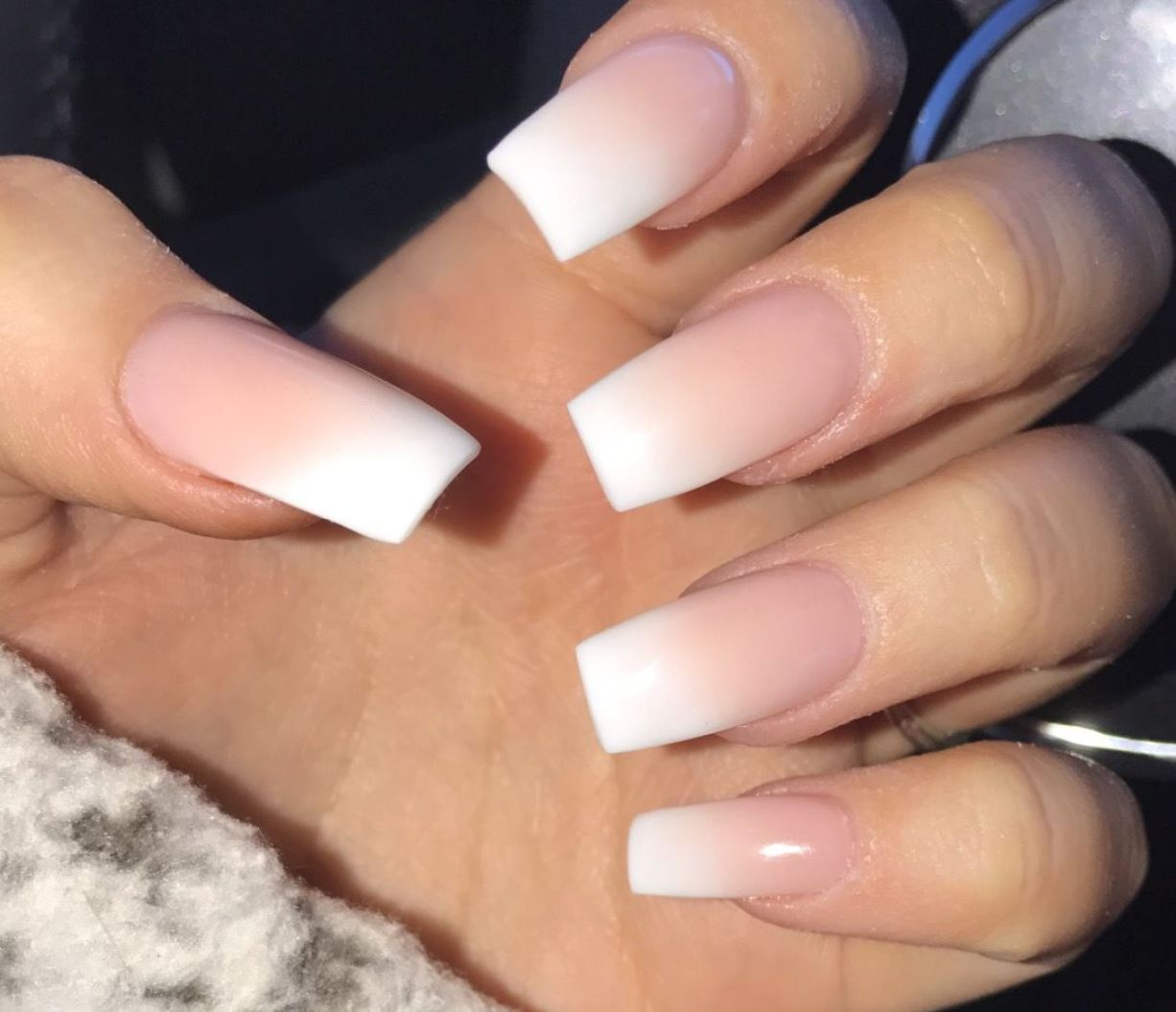 ombre nails french