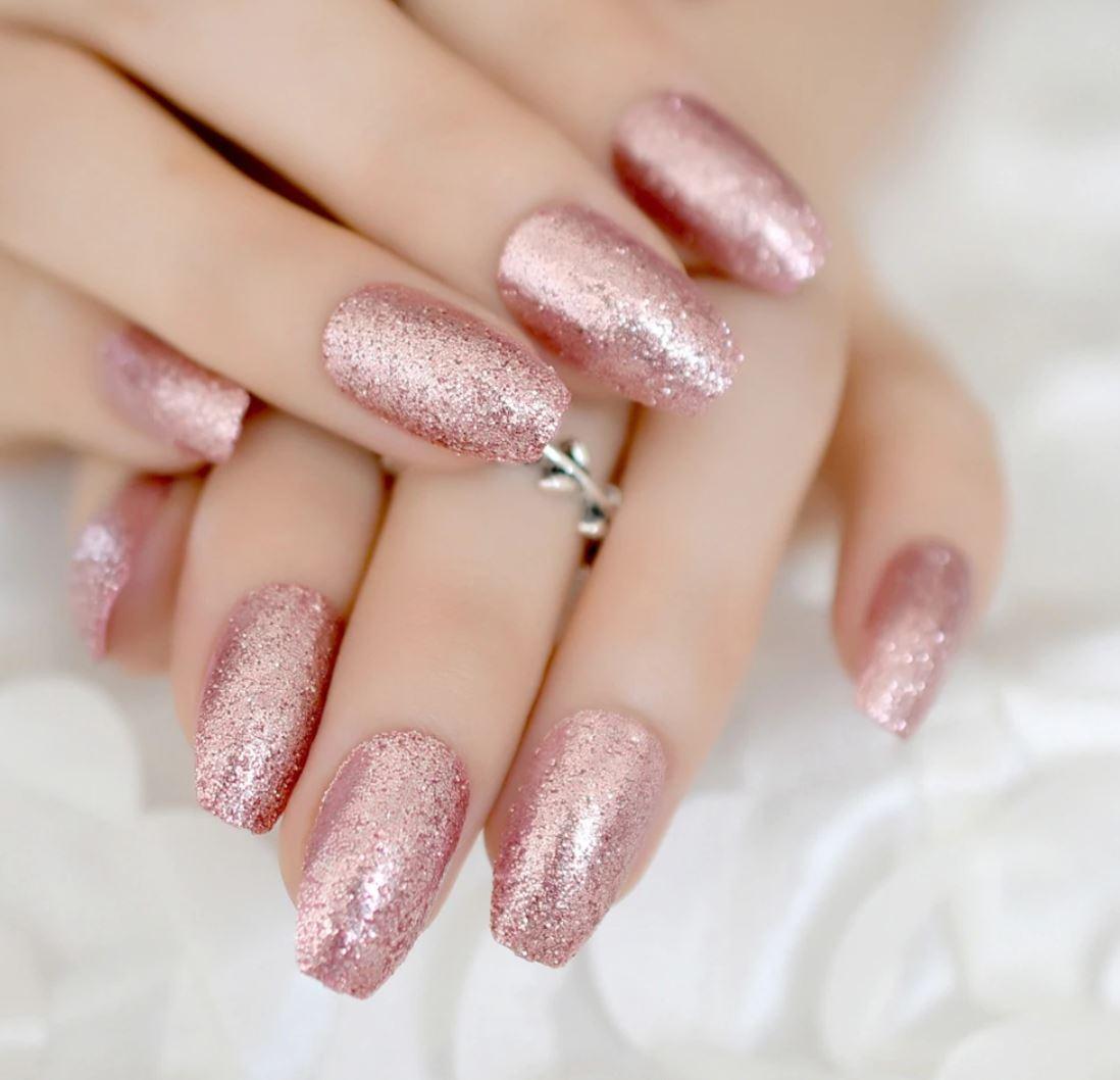 ombre nails glitter