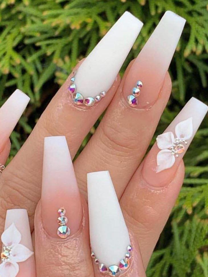 ombre sparkle nails