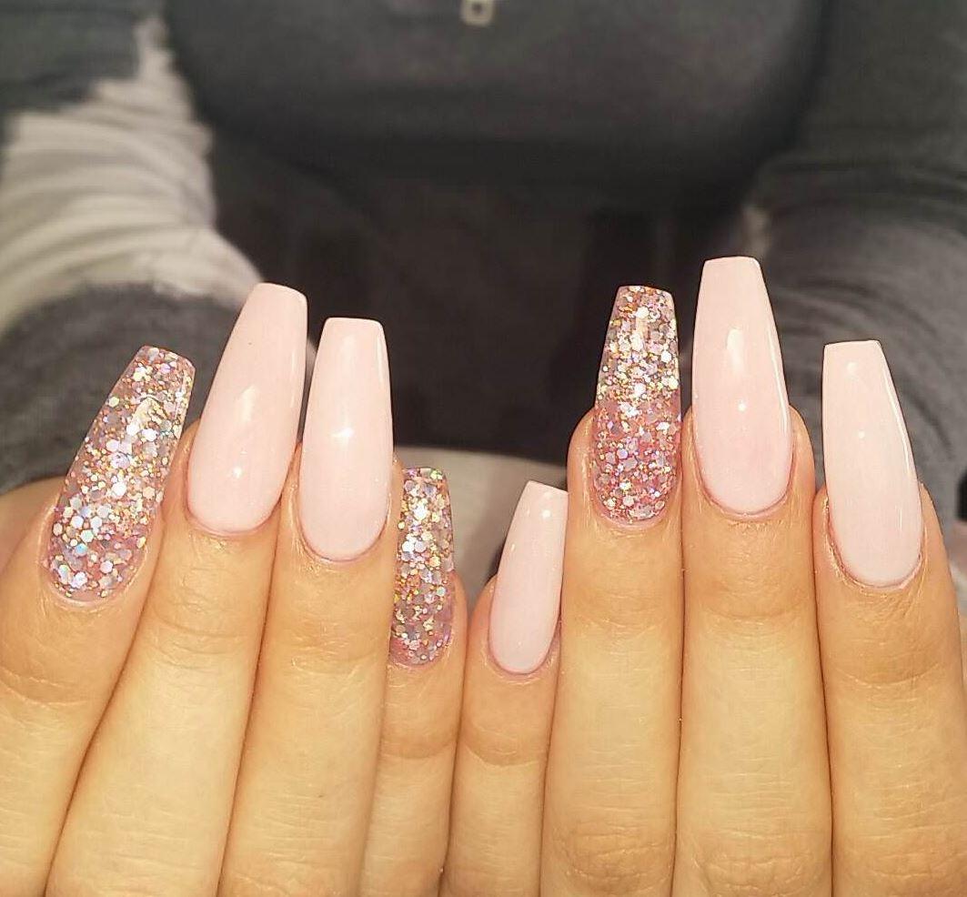 pink ballerina nails