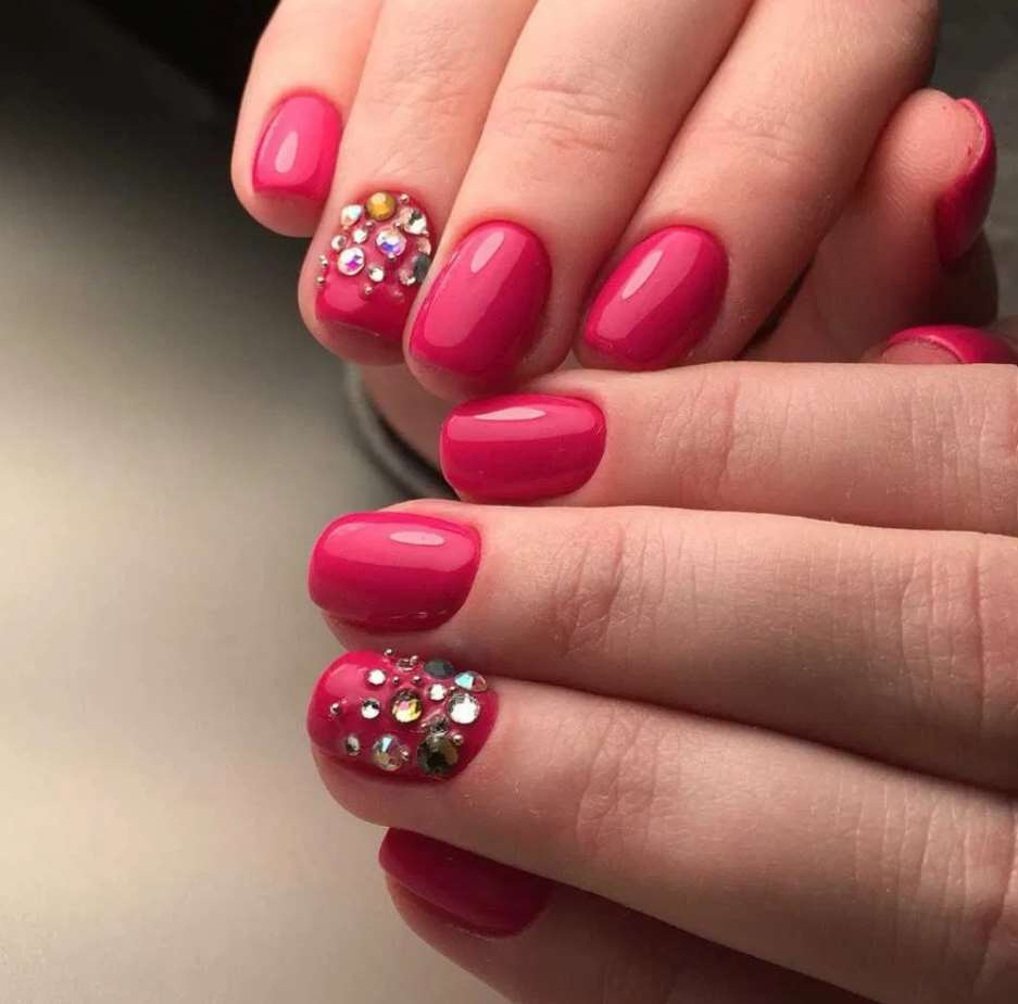 pink nail designs for short nails
