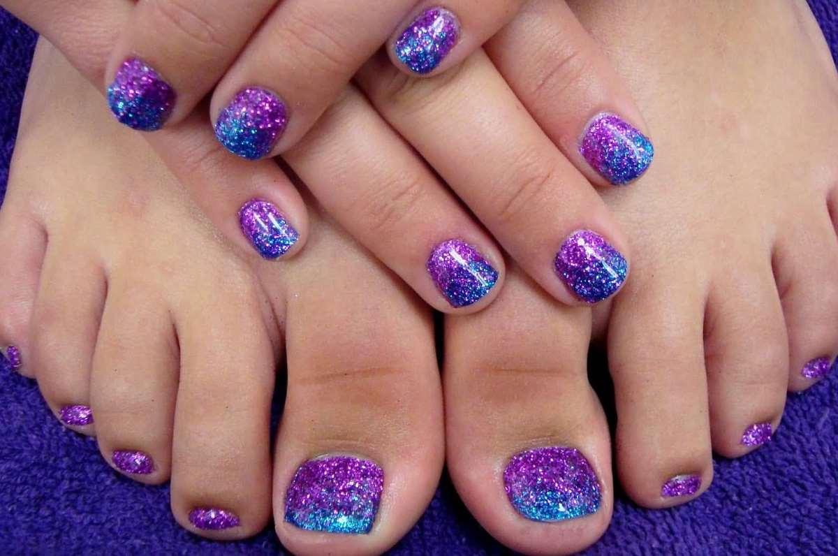purple toe nail designs