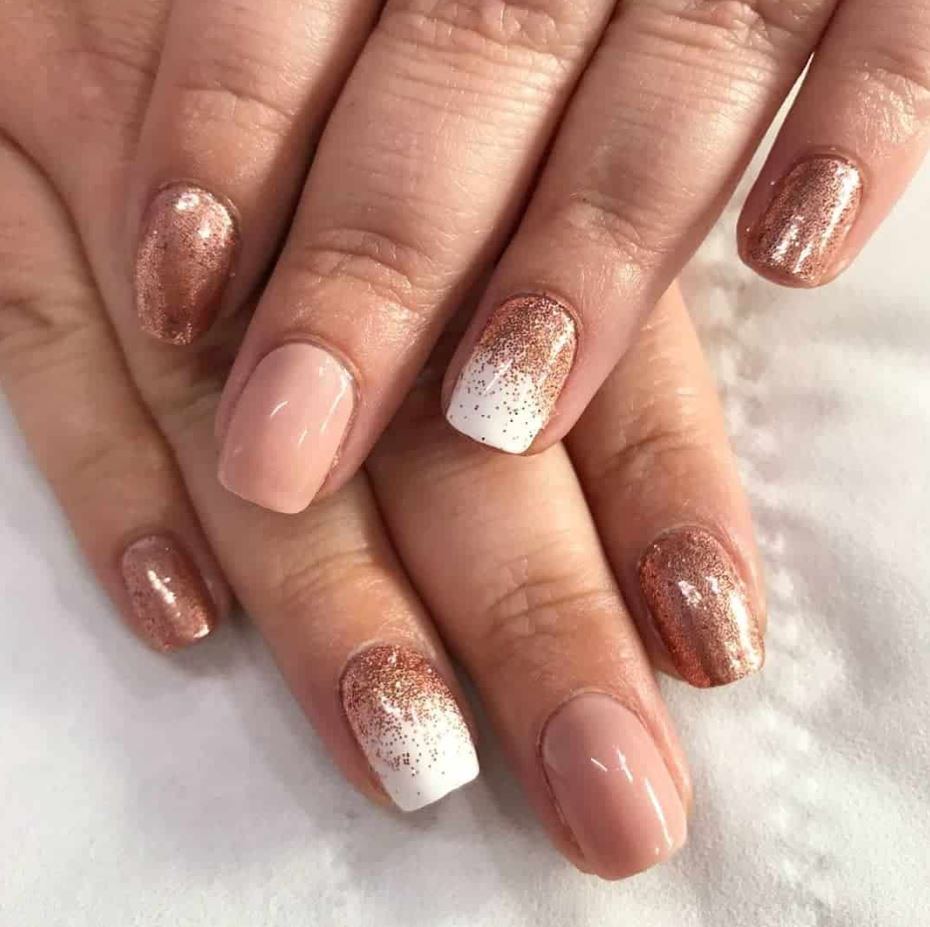rose gold ombre nails
