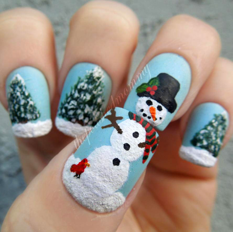 snowman-nails