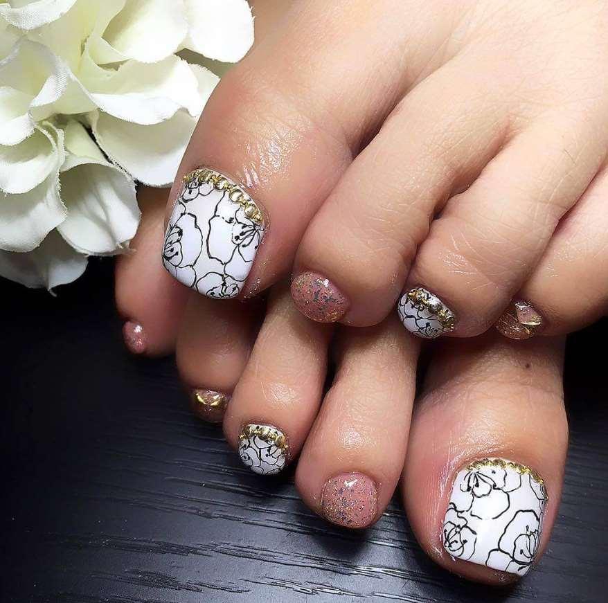 toe nail designs for fall