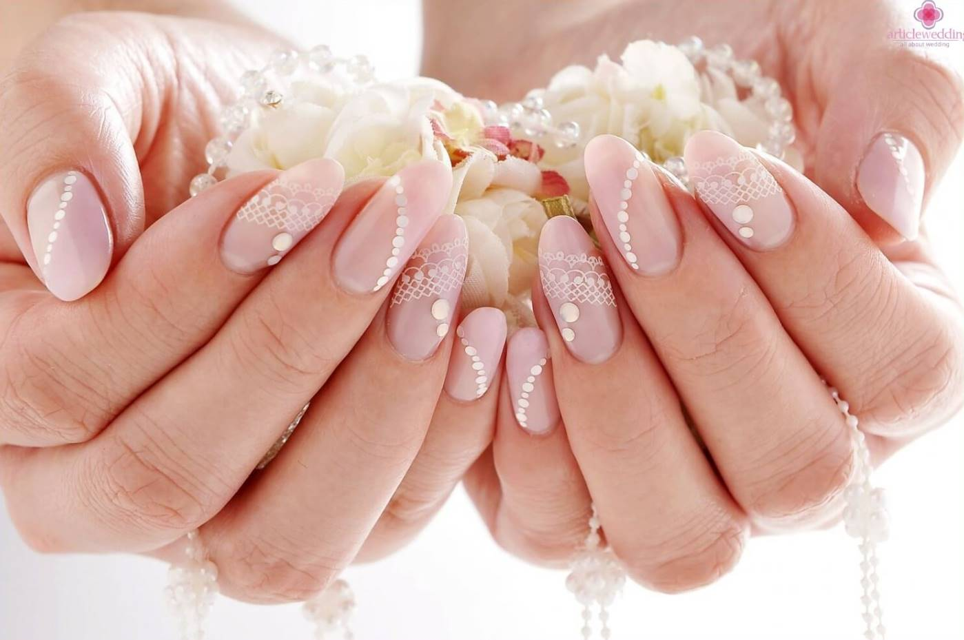 wedding acrylic nails