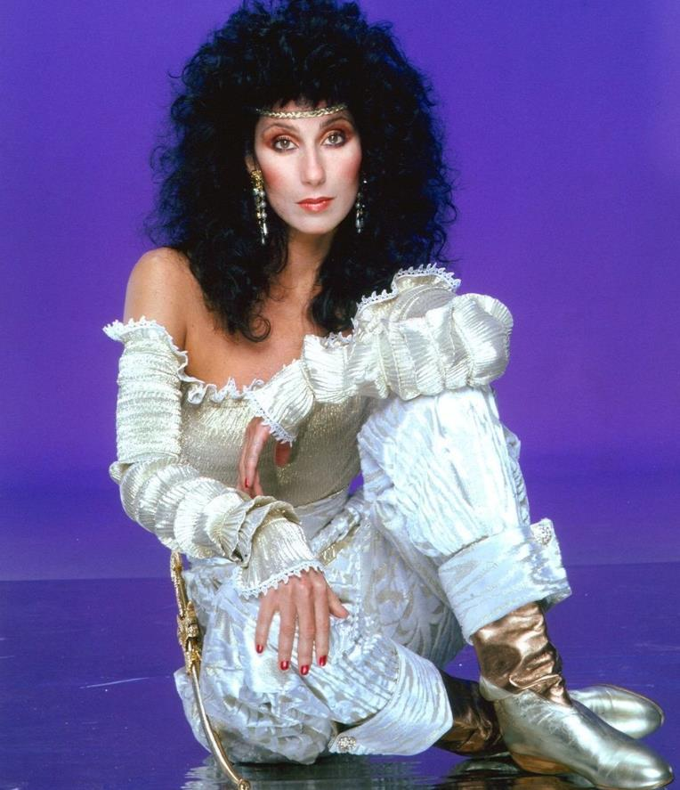 Cher 1981 red nails