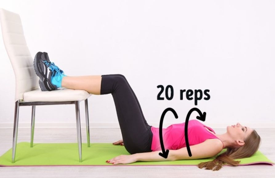 Floor Twists abs exercises