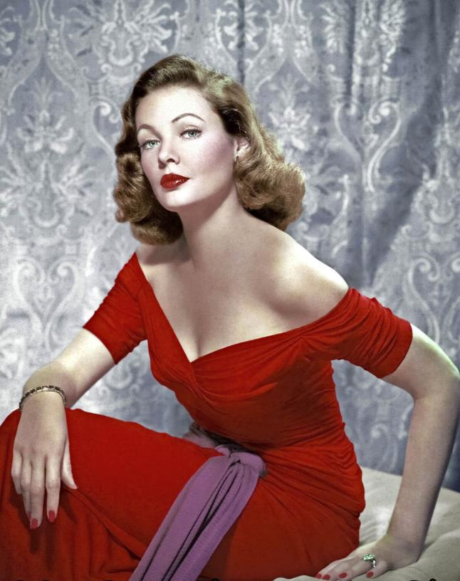 Gene Tierney in Leave Her to Heaven red nails
