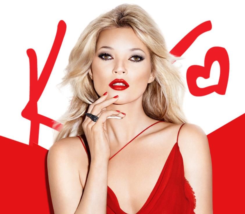 Kate Moss for Rimmel red nails