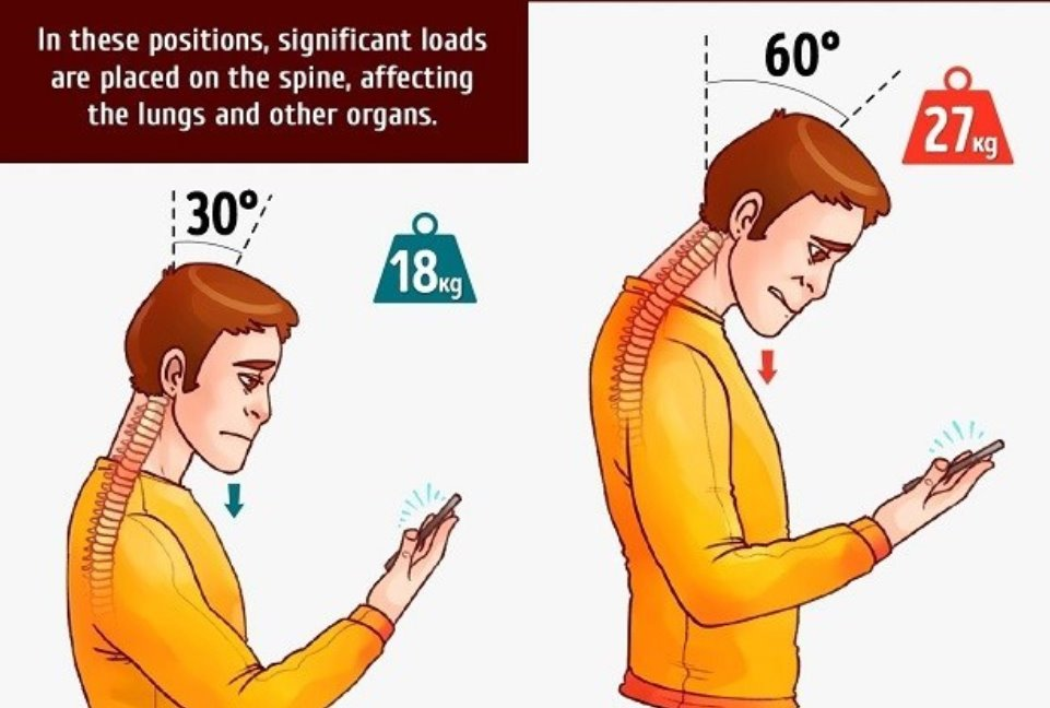 Looking at your phone affects your posture