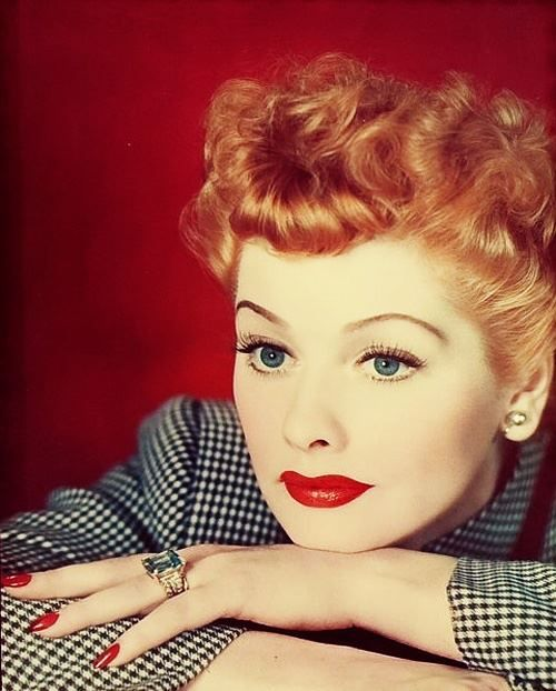 Lucille Ball red nails