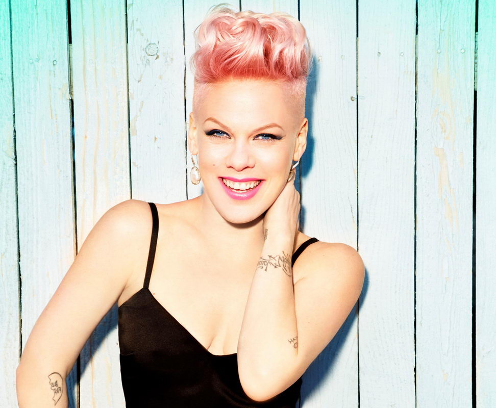 Pink with pink hair