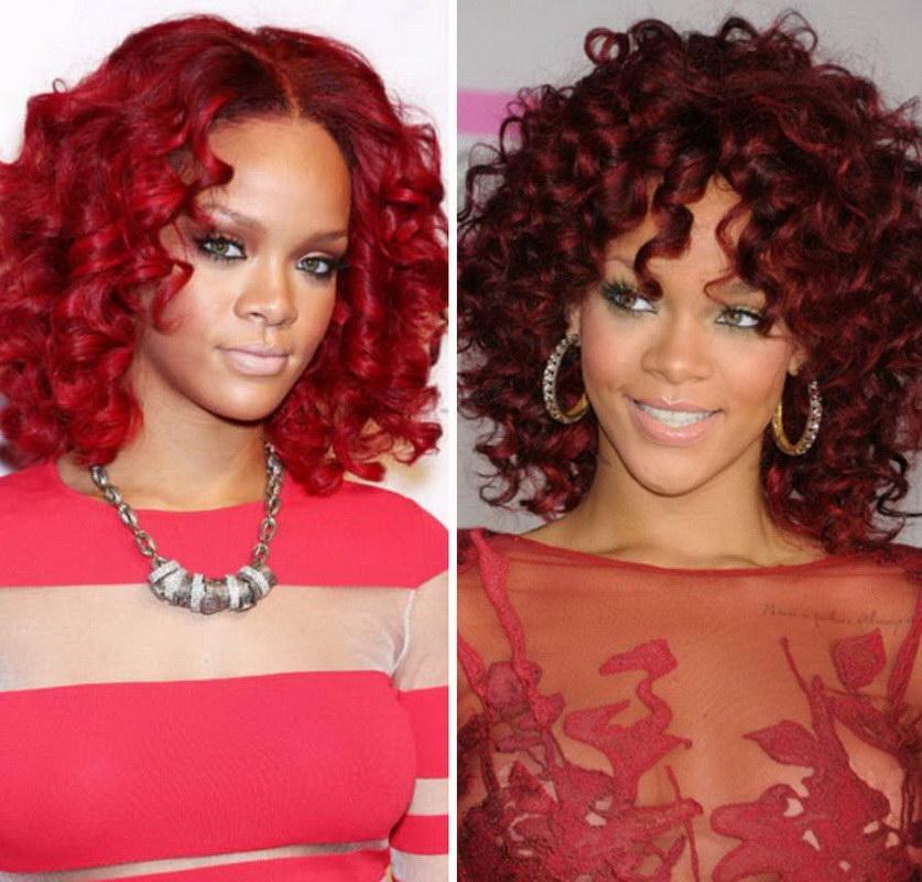 Rihanna wavy hair