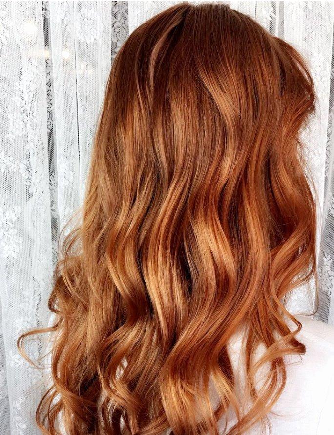 Strawberry blonde hair dark shades