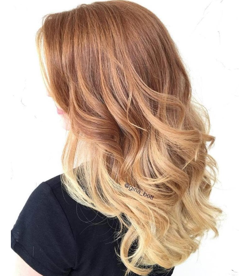 Strawberry blonde hair ombre