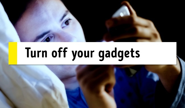 Switch off your devices