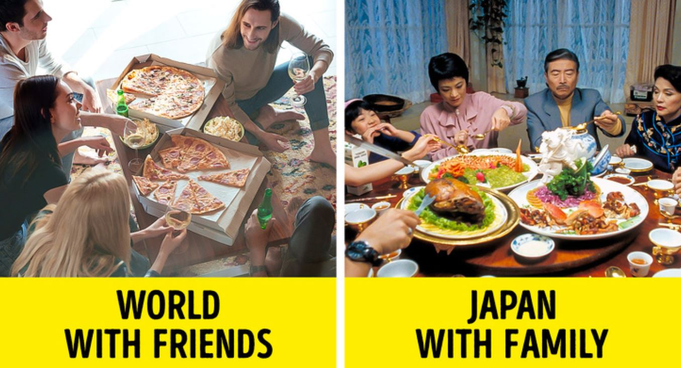 The Japanese do not welcome their close friends to their house