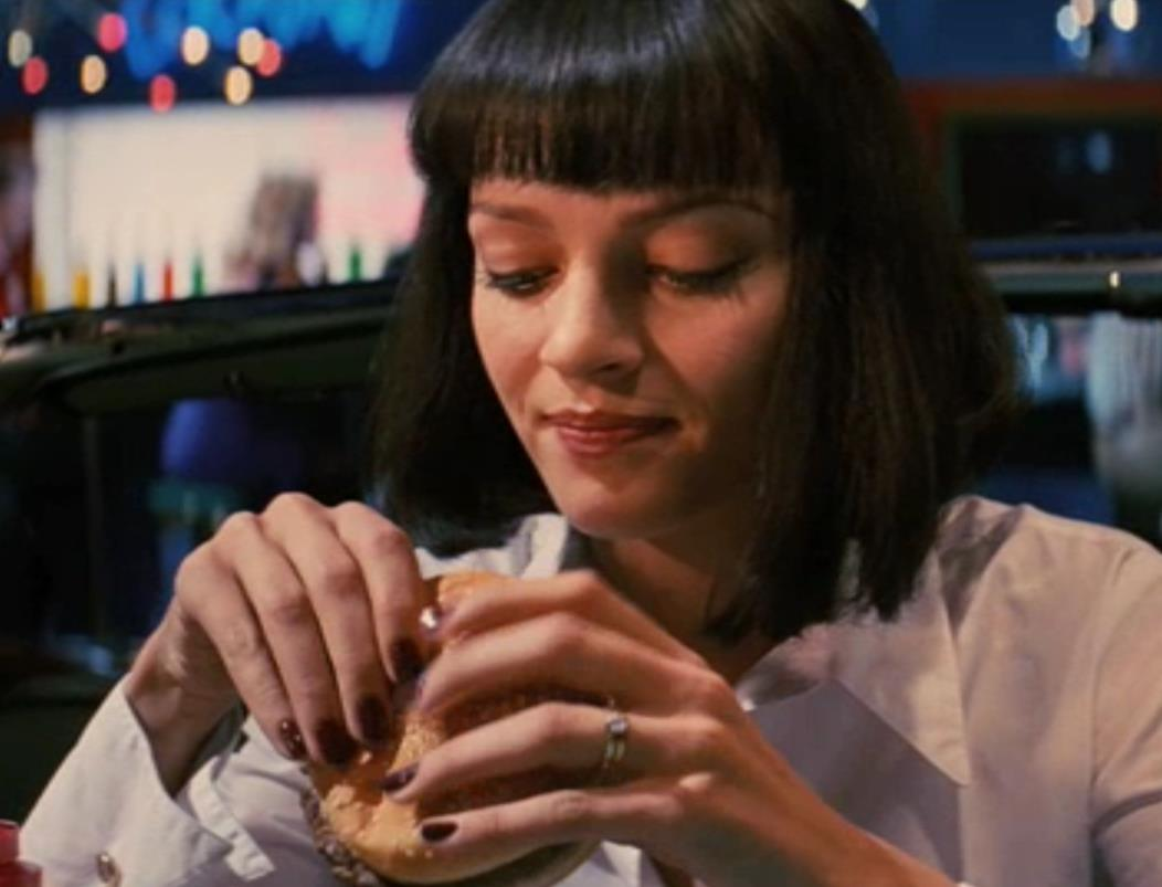 Uma Thurman in Pulp Fiction red nails
