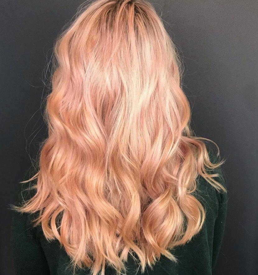 Warm strawberry blonde