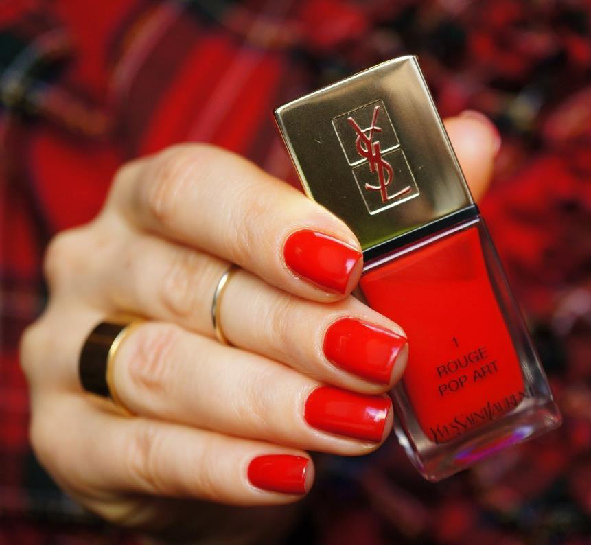 YSL La Laque Couture 1 Rouge Pop Art